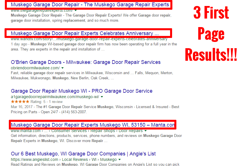 Muskego Garage Repair - 4 Page 1 Results For 1 CUSTOMER EDITED